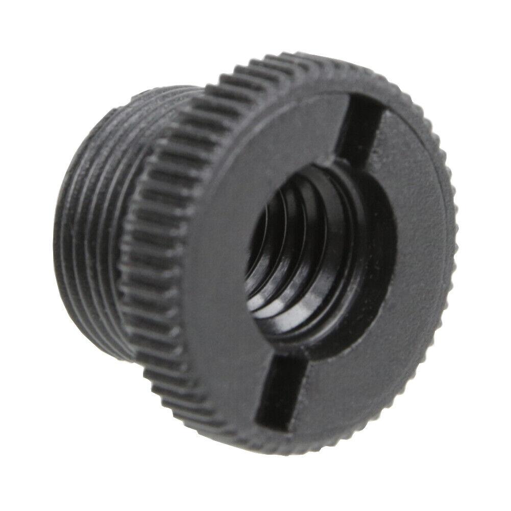 "5X Microphone Mic Screw Clip Thread Adaptor 3//8/"" To 5//8/"" Connector Golden  X"