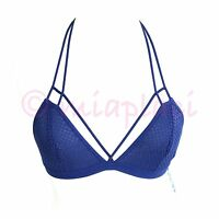 Free People Fish In The Sea Strappy T-back Bralette Mineral Blue X-small 32