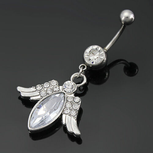 Engel Schutzengel Piercing 10mm Anhänger Zirkonia #261 Bauchnabelpiercing