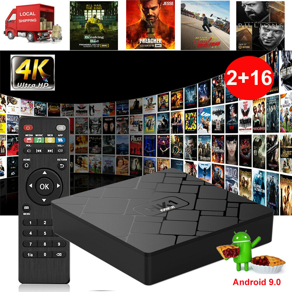 2019 2+16GB Android 9.0 Pie RK3229 Quad Core 4K Smart TV BOX 3D Movies WIFI HDMI Featured