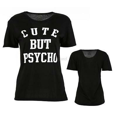 Fashion Women's Printed Letters Loose T Shirt Short-sleeved Casual Tops Blouse