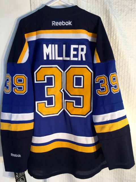 Reebok Premier NHL Jersey ST. LOUIS Blues Ryan Miller Blue sz XL