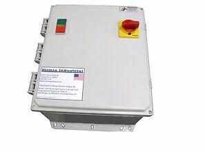 Elimia Combination Motor Starter 9-13 Amp 7.5 HP Hand Off Auto HOA Pump 480V