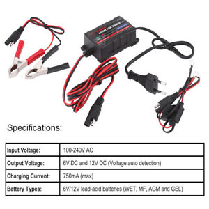 Car-Motorcycle-ATV-6-12V-Battery-Trickle-Charger-Maintainer-for-Sealed-Lead-Acid