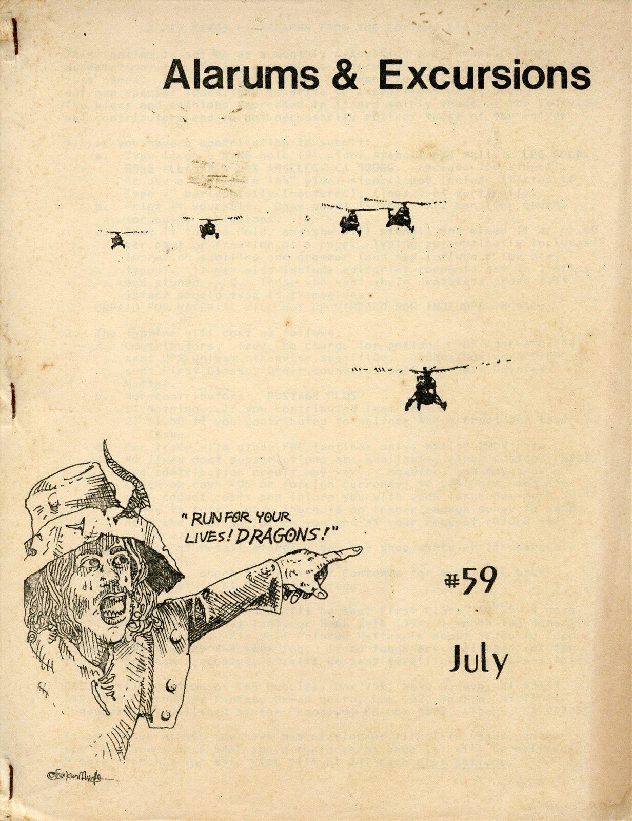 ALARUMS & EXCURSIONS 59   LEE gold July 1980 VGC