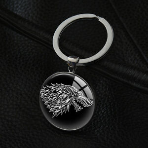 Image is loading House-Stark-Keyrings-Game-of-Thrones-Keychains-Silver- d5eeee3b133a