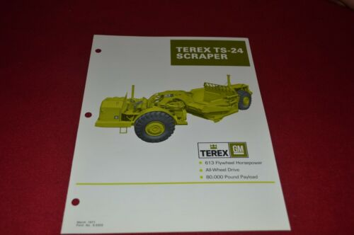 Terex TS-24 Scraper Pan Dealer/'s Brochure DCPA6 ver6