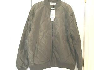 Sovereign Code NEW Olive Green Men/'s Bertie Diamond Quilted Bomber Jacket
