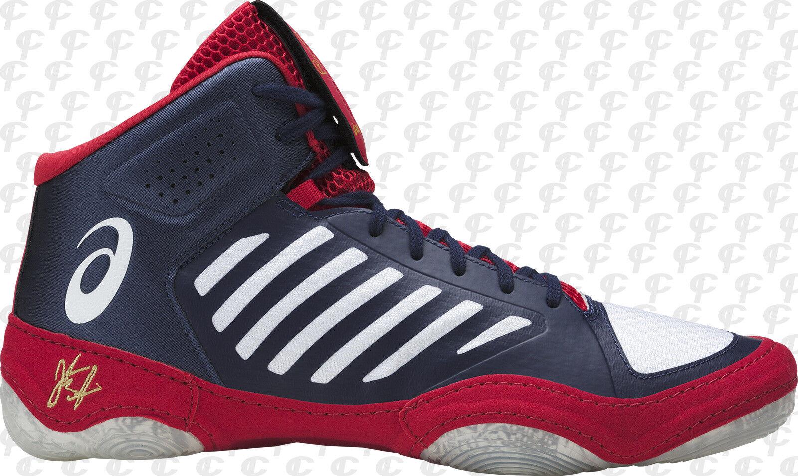 NEW Asics JB Elite III Wrestling Shoes Adult US Sizes J702N-4901 Blue/White/Red