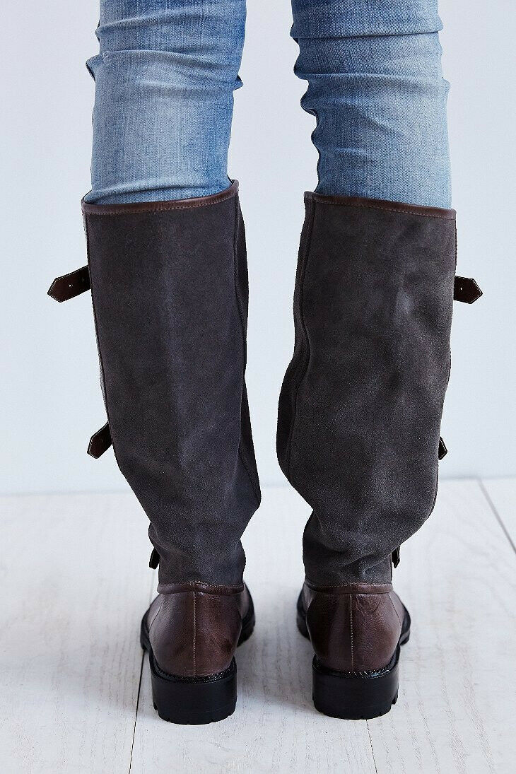 NEW Jeffrey Campbell Swash Belted Panel Panel Panel Tall Boot size 6 MSRP   310 Suede dd09d2