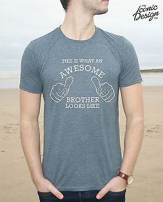 * This Is What An Awesome Brother Looks Like T-shirt Top Funny Family Men Gift *