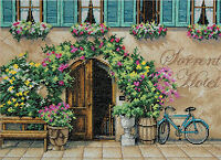 Cross Stitch Kit Dimensions European Sorrento Hotel Floral Arch 70-35270