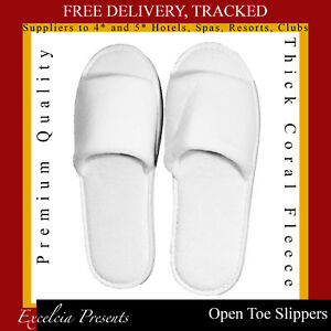 White Spa Open 5 B Quality Holidays Unisex Luxury amp;b Premium Toe Slippers UqRO1