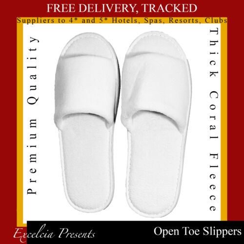 Toe Premium Spa Luxury Quality Holidays Open amp;b Unisex Slippers 5 B White OAnf45g