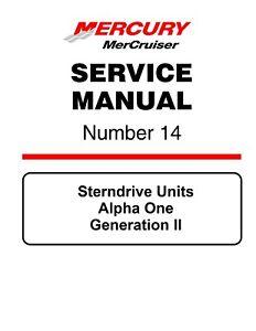 new mercruiser mercury service manual 14 sterndrive units alpha one rh ebay com mercury mercruiser sterndrive service manual mercruiser sterndrive service manual