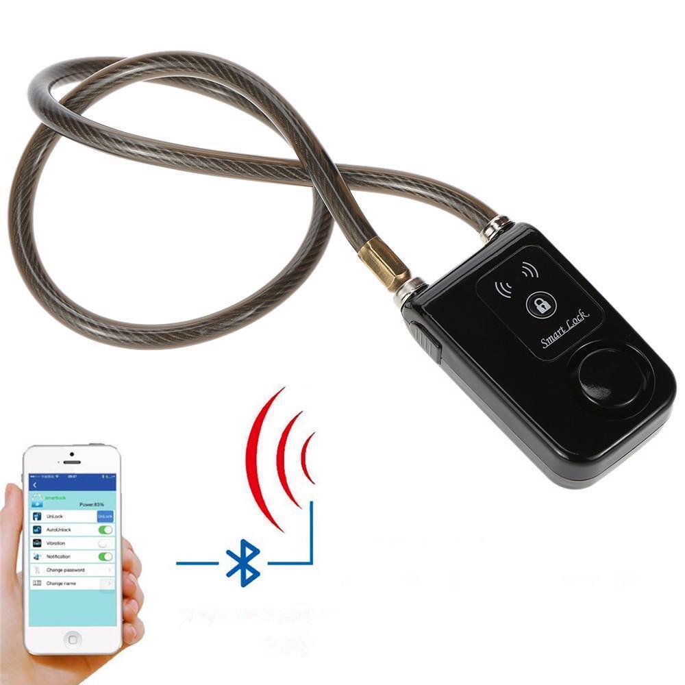 azultooth Smart de bloqueo con alarma de la Bicicleta Moto Sin Llave Candado App Control