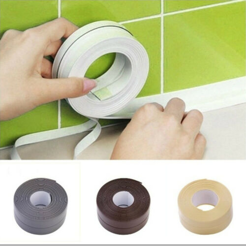Bathroom Bathtub Kitchen Waterproof Wall Stickers Sealing Strip Sealant Tape uk