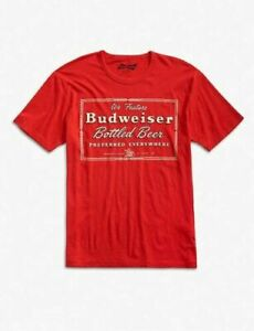 LUCKY-BRAND-X-BUDWEISER-BOTTLED-BEER1940s-STYLE-WEATHERED-T-SHIRT-Large