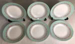 Lot9-De-6-Grandes-Assiettes-Creuses-Vintage-Mint-Arcopal-France-Esso-D-22-8-Cm