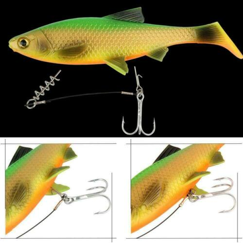 Fishing Soft Lure Bait Stinger Spike Hook Pins Connecting Lock Needle P7W4