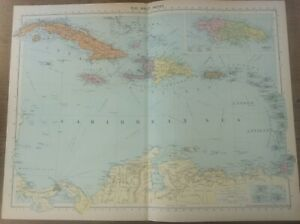 Sir Francis Drake 1585 West Indies Santiago Map 24x32