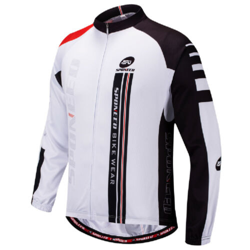 Sponeed Cycling Jersey Men Bike Shirt Long Sleeve MTB Riding Wear Breathable Top