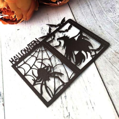 Halloween Spinne Hexe Metall Stanzformen Schablone Sammelalbum Album Card Dec!BC