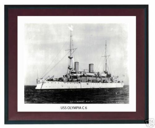 USS OLYMPIA C 6 -- Naval Ship Photo Print, USN Navy