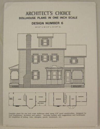 DOLLHOUSE PLANS Design #6 Architect/'s Choice 1:12 Scale