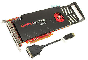 Details about HP AMD FirePro W7000 4GB DisplayPort Professional Video  Graphics Card C2K00AT