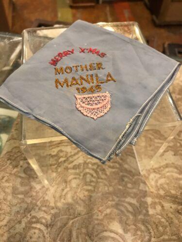 Vintage Antique 1945 World War I Handkerchief Moth
