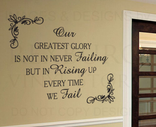 Wall Decal Sticker Quote Vinyl Art Lettering Removable Get Up When You Fall IN61