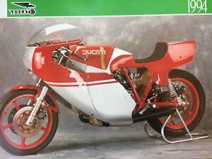 Ducati Calendar Rolf im Brahm 1994 Supermono bevel 900 NCR 750 888 SP single