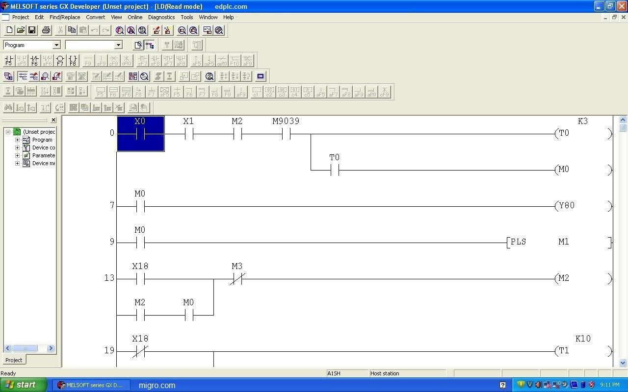 PLC Triple Programming Software Ladder Logic, Function or IEC Graphic w  Examples