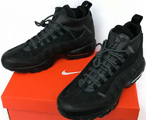 5a0d1167 Nike Air Max 95 Sneakerboots 806809-001 Black Training Running Shoes ...