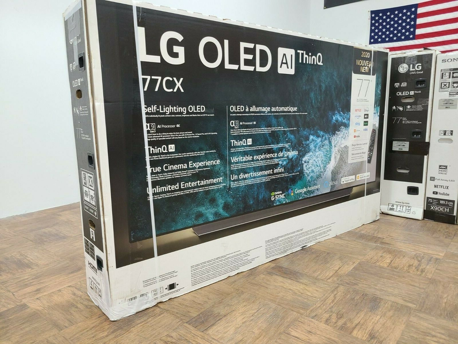 LG 77 OLED CX 4K SMART TV - SUPER THIN - HDMI 2.1 Open Box Never used. Available Now for 3199.99