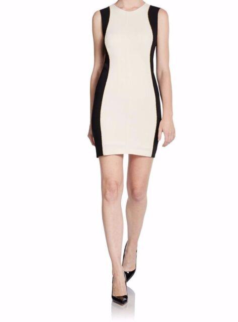 Rag Bone Dupont Bodycon Ivory Black Knit Dress Size 10 Msrp 450 00