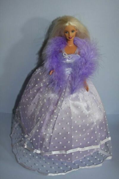 Beautiful Purple Gown with Tons of Ruffles Ball Gown Made to Fit Barbie Doll