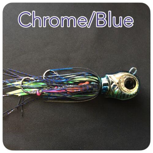 CAIVO 3D SHELL MOON JIGS Col Chrome//Blue BOTTOM  JIGS