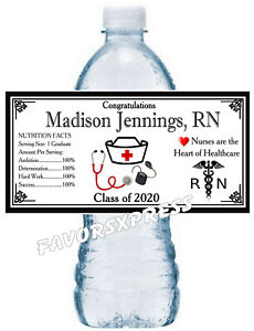 Class of 2018 Personalized Waterproof Labels, Graduation Water Bottle Labels Graduation Favors Graduation Party Graduation Labels