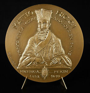 Medaglia-Matteo-Ricci-Sacerdote-Gesuita-Italiano-Cristiano-Cina-Cina-Medal