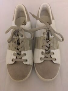 3edfe7353 Sam Edelman Marquette Women s Fashion Sneaker White Gray Leather ...