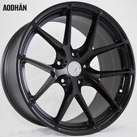 18x8 +15 Aodhan Ls007 5x114.3 Black Wheel Fit Ford Mustang Gt V6 Civic Si Jdm on sale