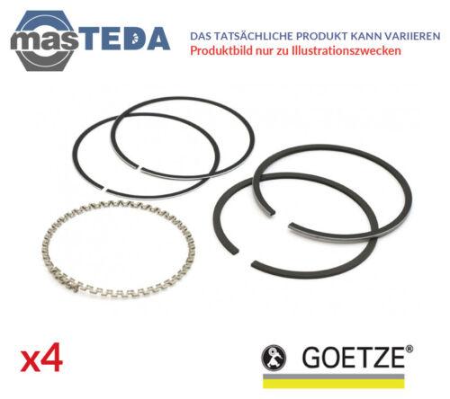 4x GOETZE Anelli Pistone Set di 08-109407-10 G oversize 0.5mm NUOVO OE Qualità