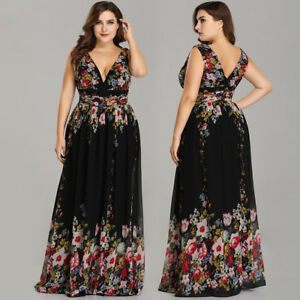 Ever-Pretty-Plus-Size-Bridesmaid-Dresses-Floral-Long-Maxi-Party-Dress-09016