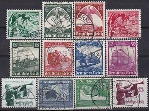 Nazi-3rd-Reich-12-Rarer-Issues-1935-1938-Cancelled