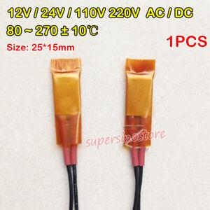 1X 12V//110V//220V Constant Temperature PTC Heating Element Thermostat Heaters