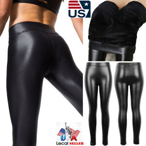 755ce558a4c05e Image is loading Womens-Winter-Thick-Warm-Leather-Leggings-Stretch-Skinny-