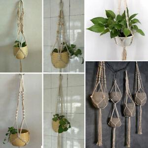 Haus Pflanze Blumenhänger Topflappen Makramee Jute Seil ...