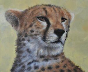 John-Silver-Original-Oil-Painting-Portrait-Of-A-Cheetah-Wildlife-Art